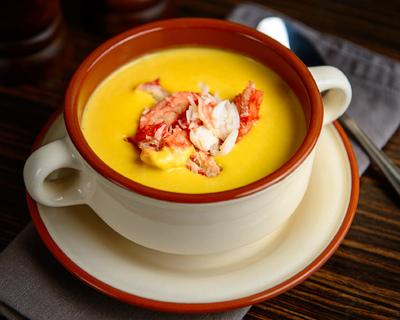 Крем суп из тыквы с камчатским крабом